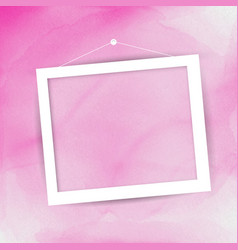 picture frame on watercolour background vector image vector image