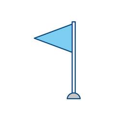 pennant flag symbol vector image