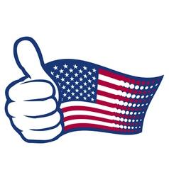 Usa thumbs up vector