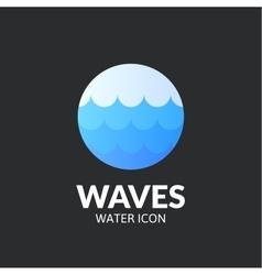 Waves logo template vector