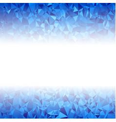 blue polygonal background rumpled triangular vector image