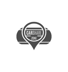 Car share logo design Car Sharing concept vector image