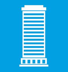 column icon white vector image