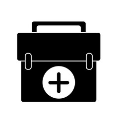 first aid kit emergency equipment pictogram vector image