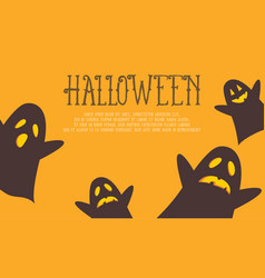halloween background with ghost collection vector image