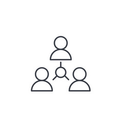 people group community network thin line icon vector image vector image