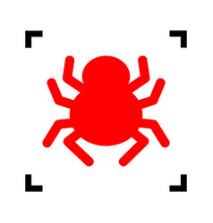 spider sign red icon inside vector image