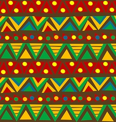 Triangular geometric pattern in ethnic style with vector image vector image