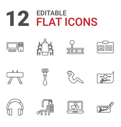 12 personal icons vector image