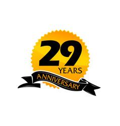 29 years ribbon anniversary vector image