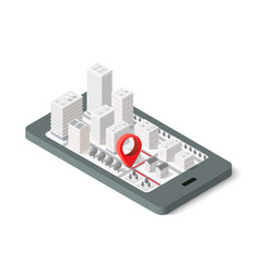 3d map isometric city vector image