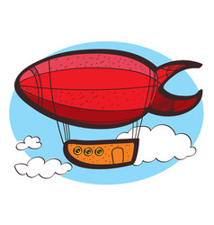airship clipart color on a white background vector image