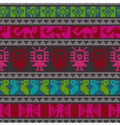 Andean knitting pattern vector