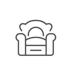 armchair line icon vector image