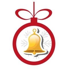 Bells christmas decoration icon vector