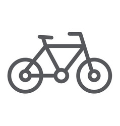 bike line icon sport and transport bicycle sign vector image