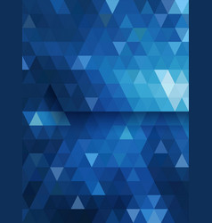 Blue triangle background diamond shape vector