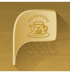 Bubble golden icon with spa accessory vector