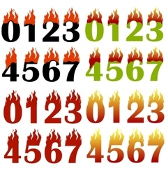 Burning Numbers Isolated vector image