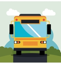 bus travel service public vector image