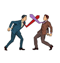Business competition duel businessmen fight vector