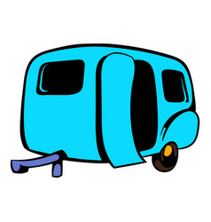 Camping trailer icon icon cartoon vector