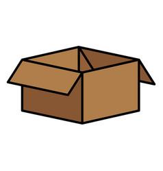carton box packing icon vector image