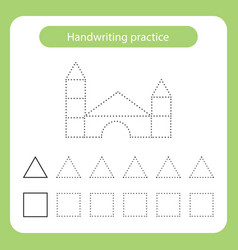 Castle out blocks kids toys theme handwriting vector