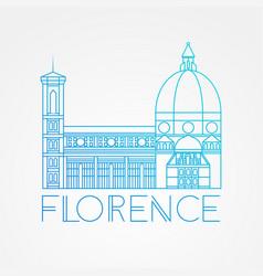 cattedrale di santa maria del fiore - the vector image