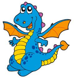 cute blue dragon vector image