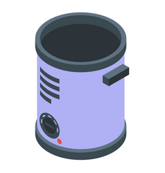 Deep fryer tank icon isometric style vector