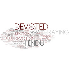 Devoted word cloud concept vector