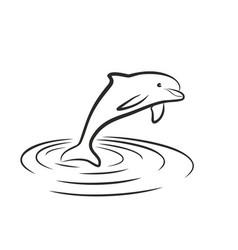 Dolphin jump vector