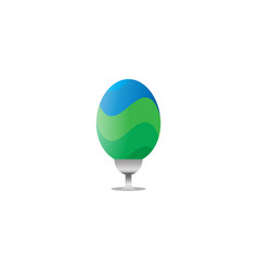 elegant easter egg decoration vector image