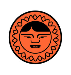 Eskimo face icon inuit head sign isolated arctic vector