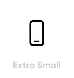 extra small phone tech specs icon editable line vector image