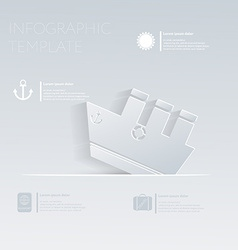 Ferry steamer Theme holidays Template infographic vector