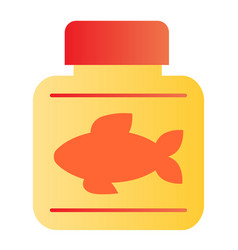 Fish oil flat icon fish fat color icons in trendy vector