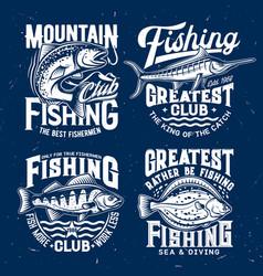 fishing sport t-shirt prints vector image