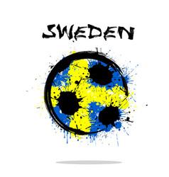 flag of sweden as an abstract soccer ball vector image