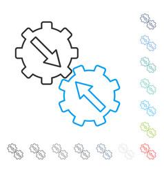 gear integration line icon vector image