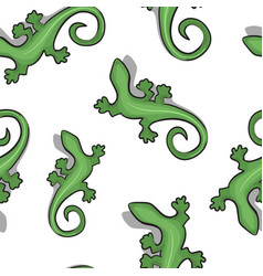 gecko seamless background vector image