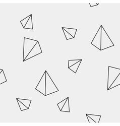 Geometric simple monochrome minimalistic pattern vector