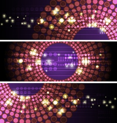 Glowing circle banner design vector