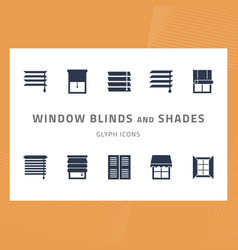 glyph icons set window blinds and shades vector image