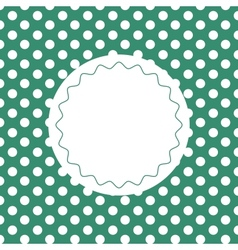 Green vintage background with dots vector image