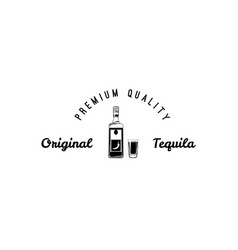 Hand draw of tequila bottle vector