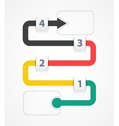 Infographic four options vector