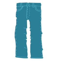 Jeans flat style vector