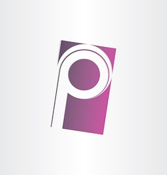 letter p purple sign design vector image